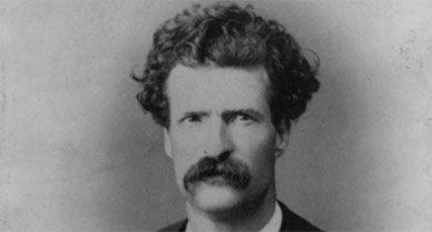 Portrait of Samuel Langhorne Clemens, aka Mark Twain from 1867.