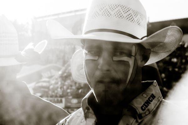 Rodeo clown at Reno Rodeo thumbnail