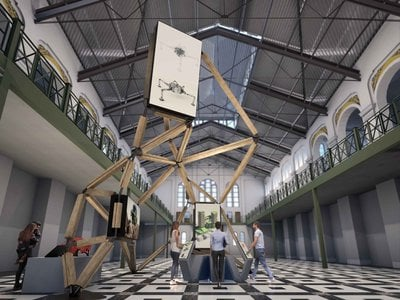"""""""The Co-Lab"""" is a first-of-its-kind collaborative design experience where museumgoers can build virtual future communities in real time, alongside artificial intelligence (A.I.) acting as a design partner."""