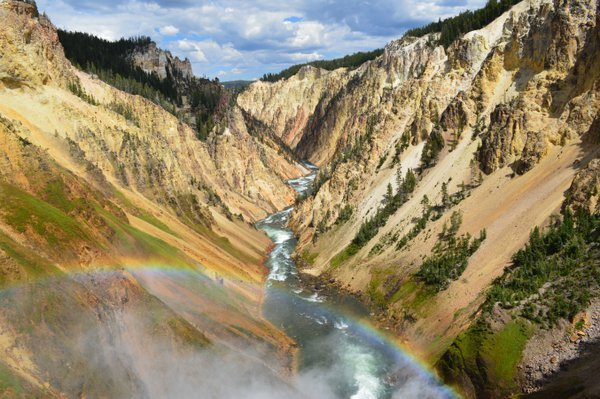 Over the Rainbow in Yellowstone Falls thumbnail