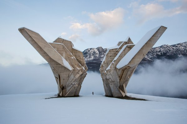 The Battle of Sutjeska Memorial Monument Complex in the Valley of Heroes thumbnail
