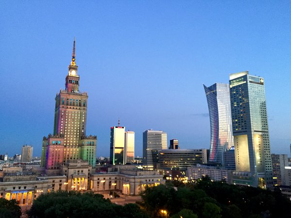 A clash of old, new, and colorful in Warsaw thumbnail