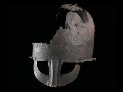The helmet has been on view at England's Preston Park Museum since 2012.