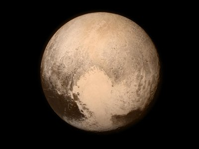 Pluto as seen by New Horizons on July 13, when the spacecraft was about 476,000 miles from the surface.