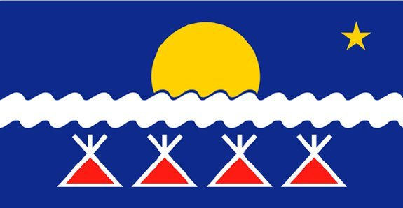 The flag of the Tlicho Nation