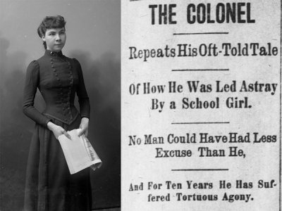 Madeline  Pollard  as  she  appeared  during  the  five-week  trial  in  the  spring  of  1894. Her entanglement with Col. Breckenridge made national headlines.