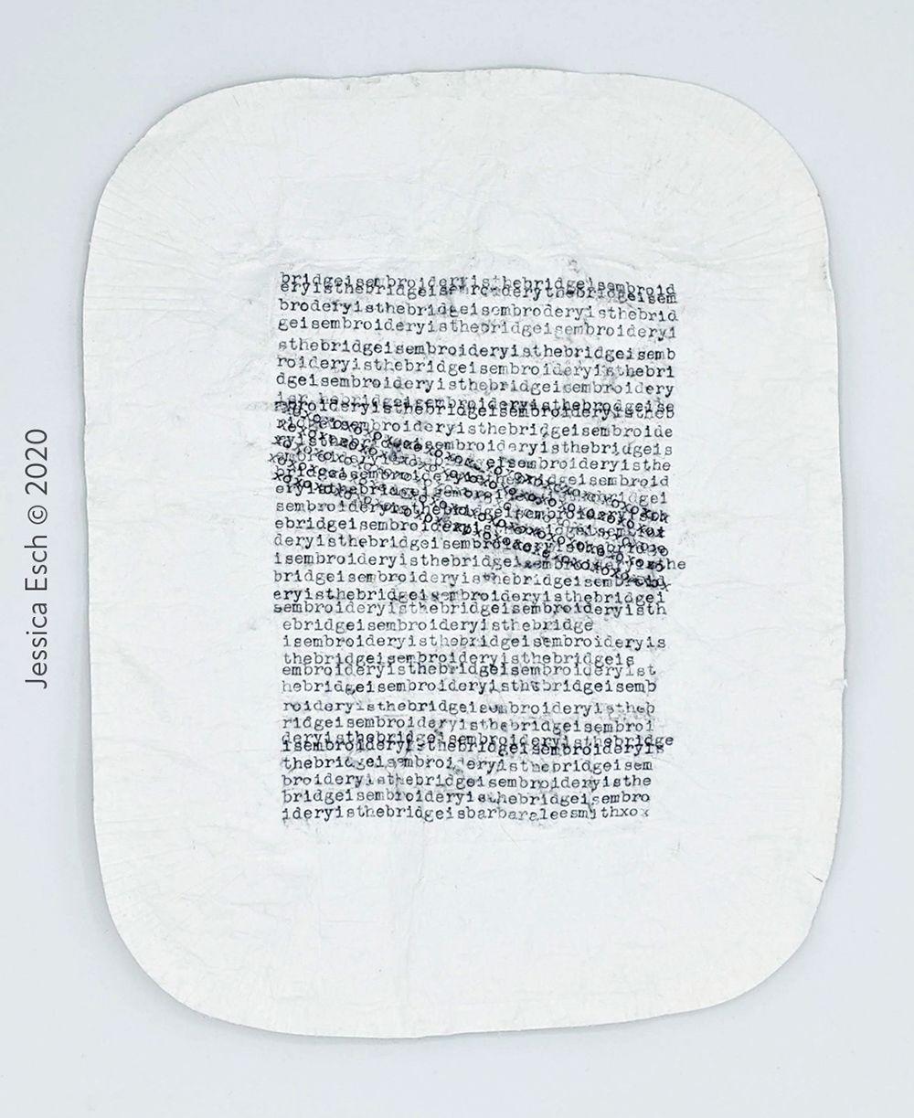 Artwork made with typewritten text
