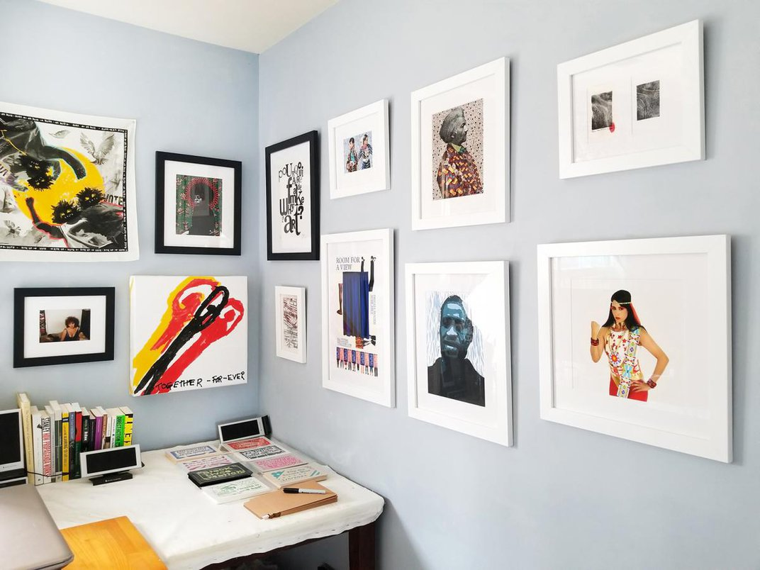 A photograph of a studio