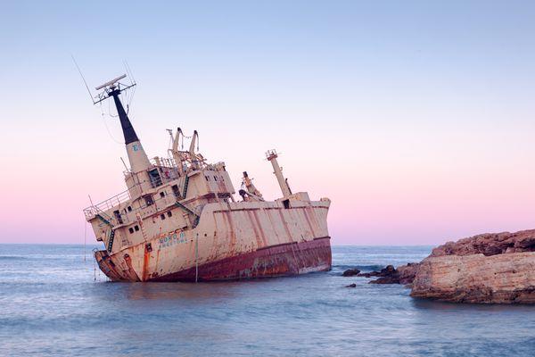 Abandoned rusty cargo ship Edro III  thumbnail