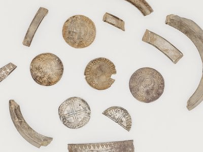 The trove included around silver coins, jewelry, and other artifacts.