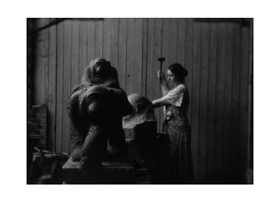 Still from home movies of Paris studio and zoo, between 1934 and 1936. Marion Sanford and Cornelia Chapin papers, 1929-1988. Archives of American Art, Smithsonian Institution.