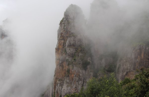 PILLAR ROCK COVERED BY CLOUDS thumbnail