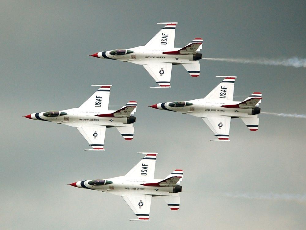 Thunderbird Diamond Formation at the 2009 Dayton Air Show