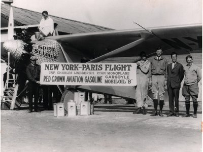 Six accomplished pilots would lose their lives before Charles Lindbergh (above, atop the cockpit)  became the first to fly nonstop from New York to Paris—in May 1927 and win the Orteig prize of $25,000 [about $350,000 today].