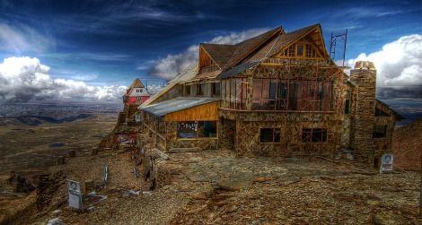The lodge at Bolivia's Chacaltaya Glacier