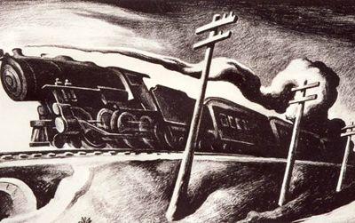 """Going West"" by Thomas Hart Benton"