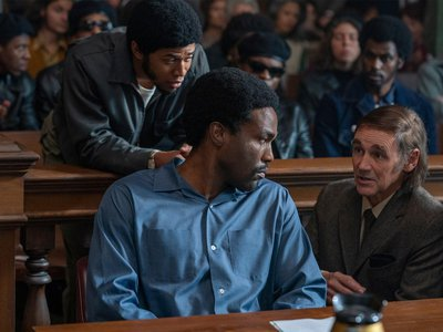 The Netflix film features Yahya Abdul-Mateen II as Bobby Seale and Mark Rylance as lawyer William Kunstler.