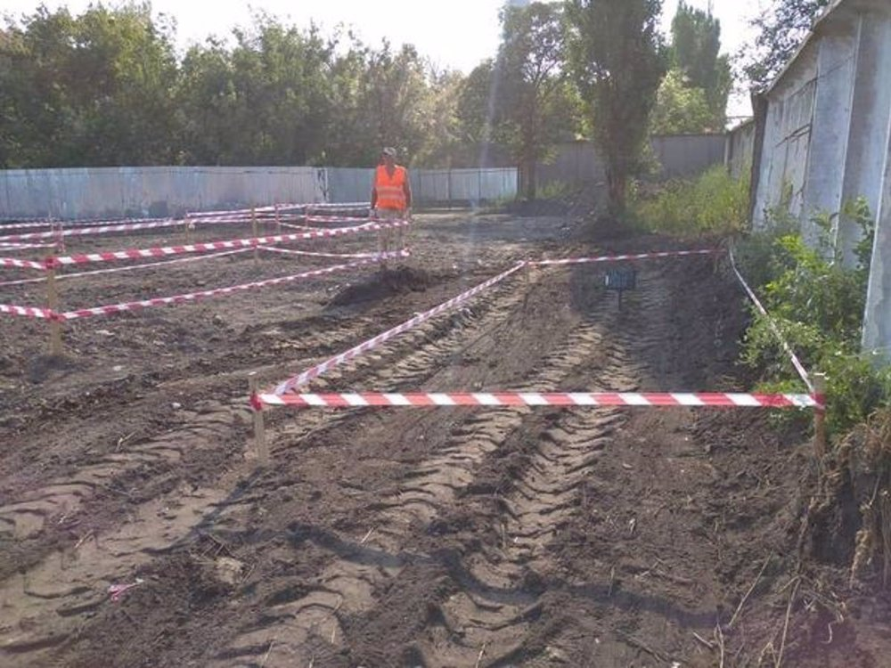 An image of the recently discovered graves in Odessa