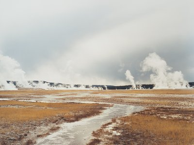 Untitled, Distant Steam Vents; Yellowstone National Park, 2008