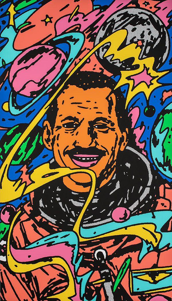 Bráulio Amado, Depicting Charles Bolden