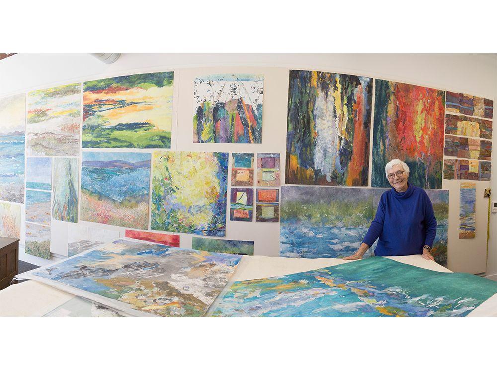Fiber artist Barbara Lee Smith in her studio. Photo: Sam Selby