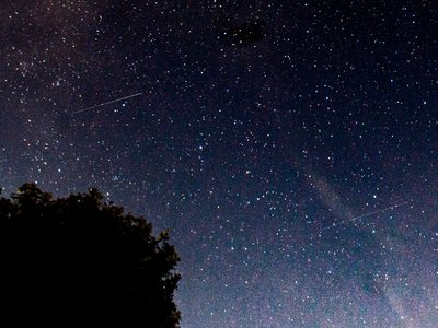 A view of the Perseid meteor shower over Northern Ireland in 2017.