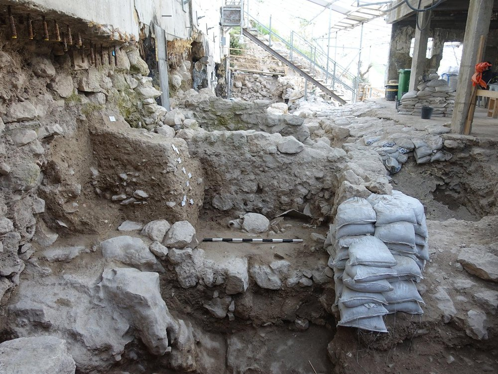 View of excavation site in Jerusalem