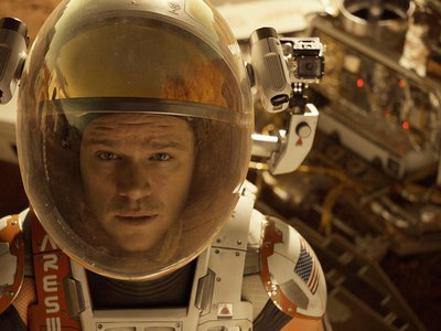 """Matt Damon stars as Mark Watney, the titular """"Martian"""" who gets left for dead on the red planet."""