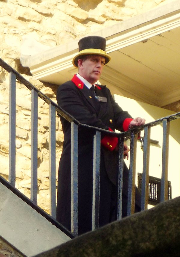This Beefeater at the Tower of London was seems very expressive as he overlooks the facility. thumbnail