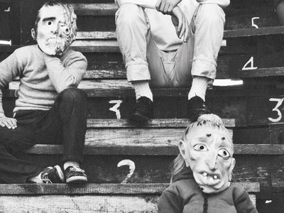 Ralph Eugene Meatyard said that masks erased the differences between people. He photographed his family, shown here, in 1962.