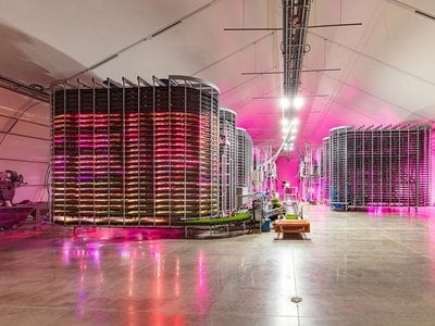 Grōv Technologies' vertical farm is designed to minimize land and water use of conventional feed production.