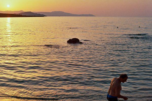 Last swim at sunset thumbnail