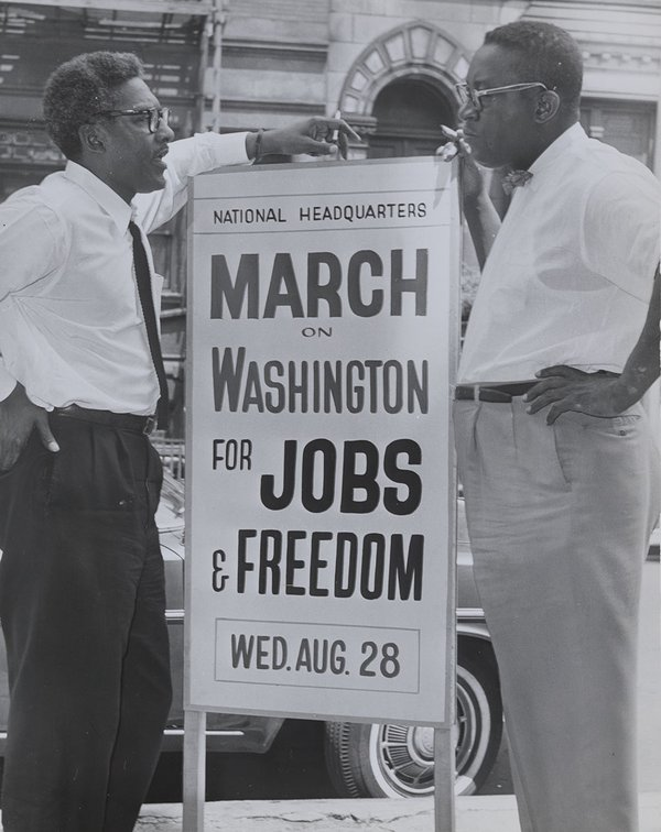 <i>Bayard Rustin</i>, 1963. Orlando Fernandez. New York World-Telegram and the Sun Newspaper Photograph Collection, Library of Congress, Prints and Photographs Division, NYWT&S Collection, LC-DIG-ppmsca-35538.