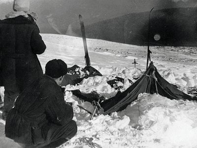Rescuers found the Dyatlov group's abandoned tent on February 26, 1959.