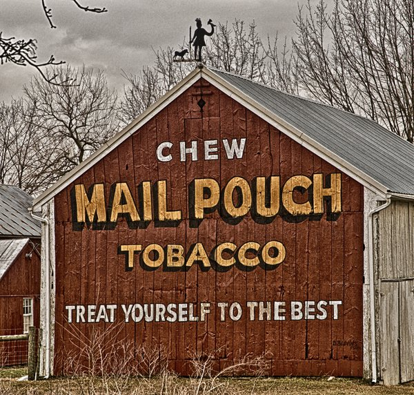 tobacco sign on a barn thumbnail