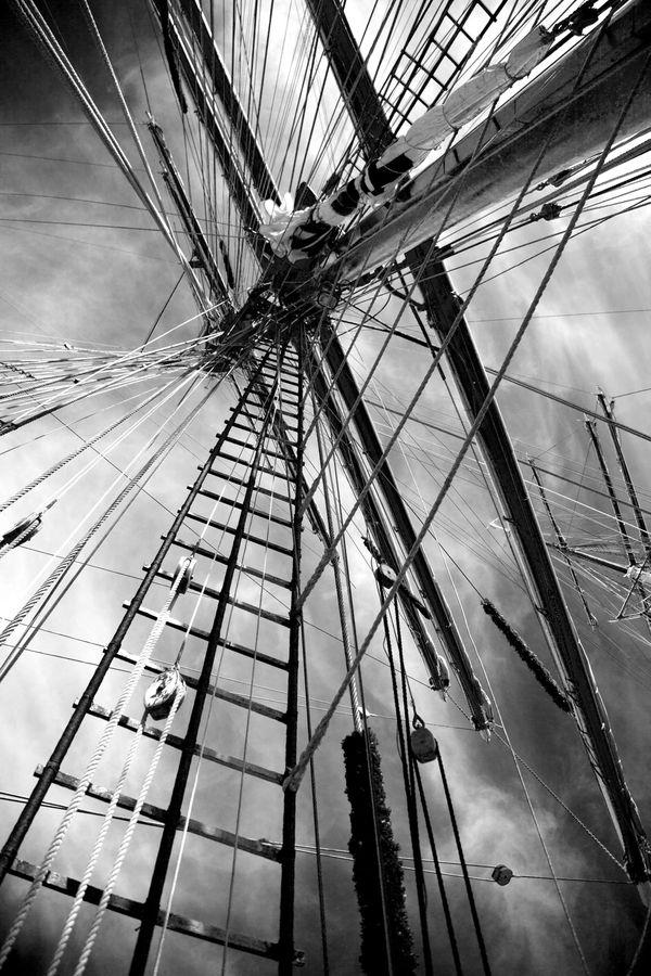 Tall ship masts and rigging thumbnail