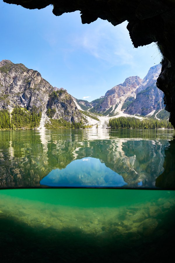From an underwater cave at Lago di Braies thumbnail