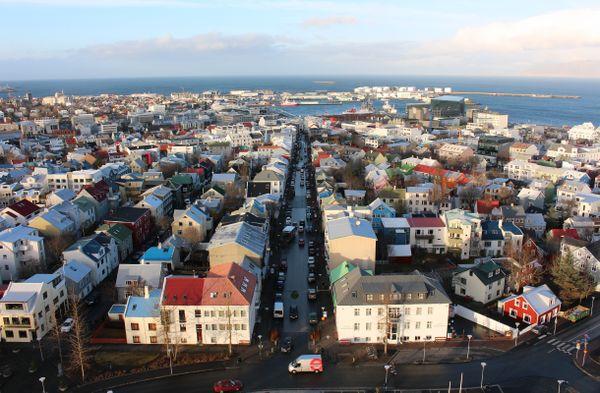 Reykjavik from the Hallgrímskirkja Church Tower thumbnail