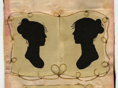 Silhouettes of Sylvia Drake and Charity Bryant of Weybridge, Vermont, (c. 1805-1815) is possibly the first depiction of a same sex couple.