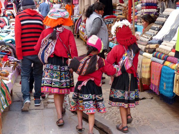 Sisters in a Peruvian market thumbnail