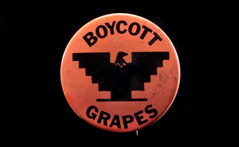 'Boycott Grapes' UFW Button