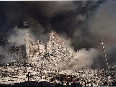 World Trade Center, September 2001, by Christophe Agou