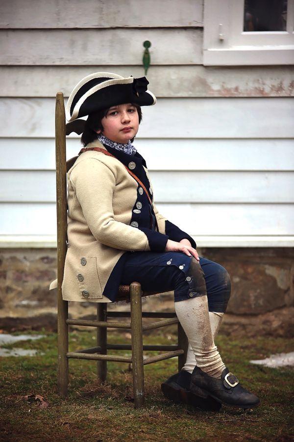 Revolutionary War child reenactor thumbnail