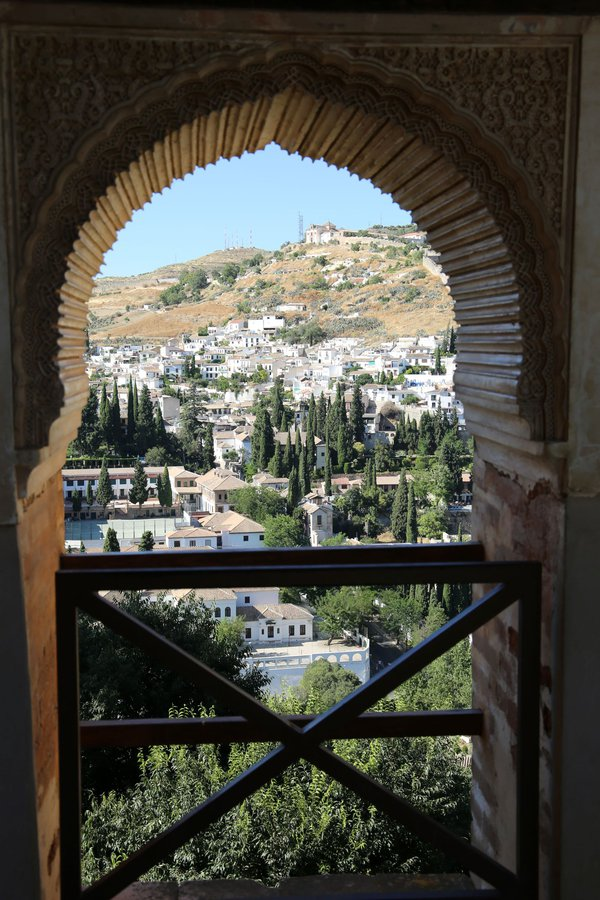 Scenic view of Granada, Spain from Nasrite Palace   thumbnail