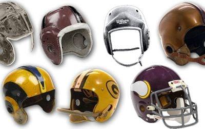 A chronology of NFL helmets