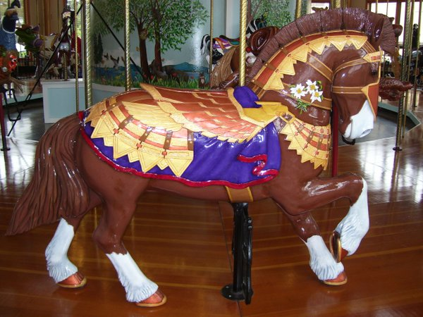 This sturdy horse knows its place at the Albany, Oregon Carousel. thumbnail