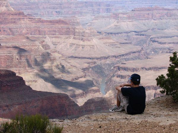 Ponder at the grand canyon thumbnail
