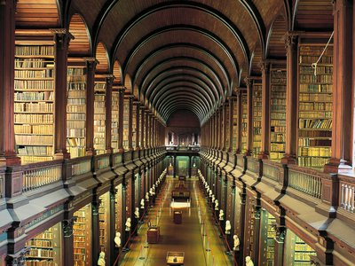 Scaled back so no two books share a page, the library still has 10 to the power of 4,677 books.