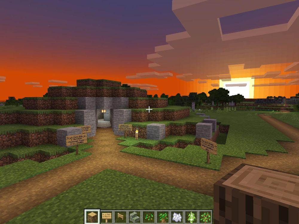 Minecraft version of Bryn Celli Ddu
