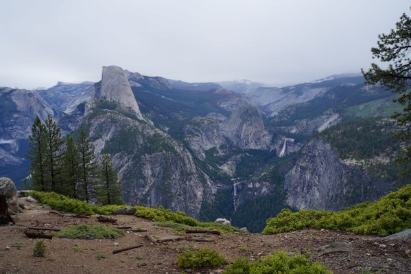 Nevada and Vernal Falls and Half Dome from Glacier Point thumbnail
